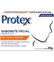 sabonete em barra facial protex anti cravos e espinhas 85g - kanui