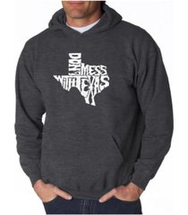 la pop art men's word art hoodie - don't mess with texas