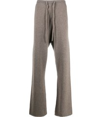 extreme cashmere slouchy wide leg trousers - brown