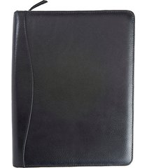 zippered pebbled leather tech case organizer