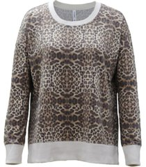 ideology animal-print crewneck sweatshirt, created for macy's