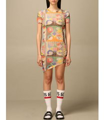 gcds dress gcds fitted dress with patchwork print