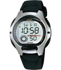 reloj casio digital lw-200-1a -negro con plateado