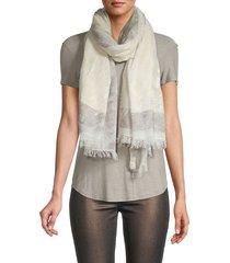saachi women's adonis metallic cotton-blend scarf - ivory
