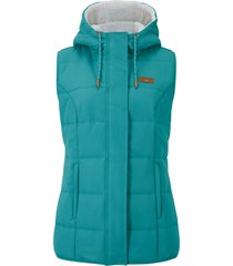 gilet con pellicciotto sintetico (petrolio) - bpc bonprix collection