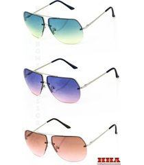 new celebrity aviator sunglasses 2 toned gradient oceanic lenses metal rimless