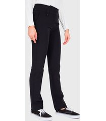pantalón io  básico negro - calce ajustado