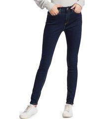 rag & bone women's nina high-rise skinny jeans - marine blue - size 31 (10)