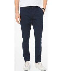 mk pantalone chino skinny in cotone stretch - notte (blu) - michael kors