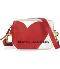 marc jacobs designer handbags, the box heart intarsia cotton leather crossbody bag