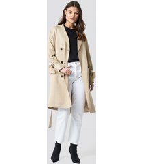 na-kd belted trench coat - beige