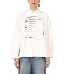 mm6 maison margiela sweatshirt with motocross print