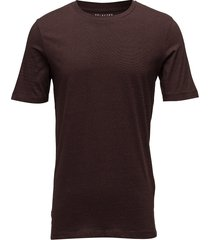 slhtheperfect mel ss o-neck tee b noos t-shirts short-sleeved brun selected homme