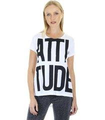 camiseta t-shirt attitude com gola redonda aha - kanui