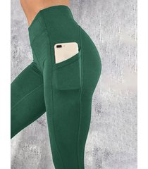 leggings de cintura alta green pocket diseño