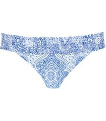 calzedonia elsa brazilian bikini bottoms woman blue size 4