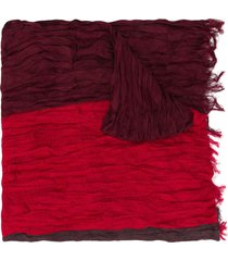 issey miyake crease pleated scarf - red