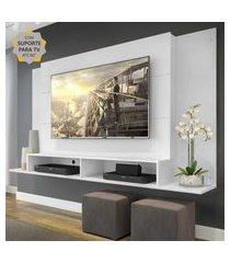 "painel com suporte para tv até 60"" tókio multimóveis branco"