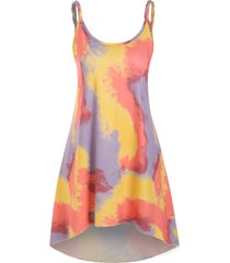tie dye braided strap mini tank dress