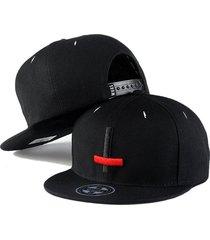 sombrero de hip hop sombrero plano sombrero de cadera-negro