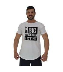 camiseta longline alto conceito get big or die trying branco