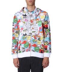 comme des garçons shirt hooded sweatshirt with zip