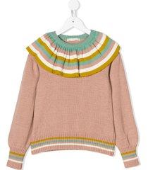 raspberry plum giselle sweater - pink