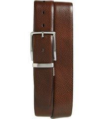 men's big & tall torino reversible leather belt, size 46 - brown/ navy