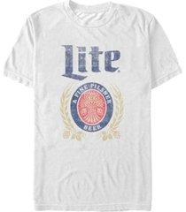 fifth sun men's miller lite distressed a fine pilsner logo short sleeve t-shirt