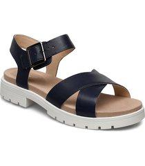 orinoco strap shoes summer shoes flat sandals blå clarks