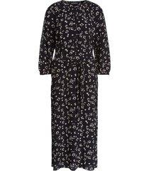 midi-jurk met print lisa  zwart