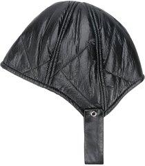 raspberry plum pilot hat - black