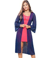 kimono para mujer azul navy mp