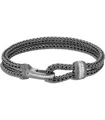 men's john hardy men's classic chain diamond pave station bracelet