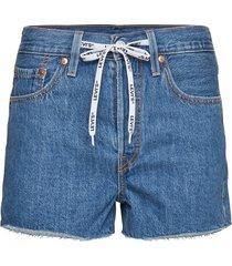 501 hr short w/ logodraw drawb shorts denim shorts blå levi´s women