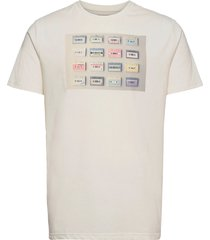 clive recycled cotton printed t-shirt t-shirts short-sleeved beige kronstadt