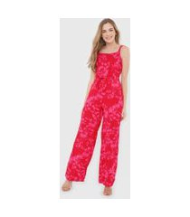 macacão malwee pantalona listrado rosa