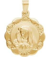 ciondolo madonna in oro giallo per unisex