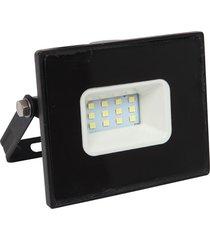 refletor led taschibra tr10 slim, preto, 10 watts, 6500k - preto