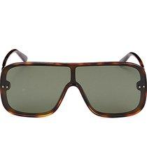 bottega veneta women's 65mm shield sunglasses - havana