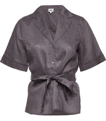ashley shirt kortärmad skjorta grå twist & tango
