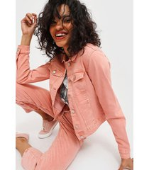 chaqueta jacqueline de yong rosa - calce ajustado