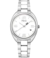 momento stainless steel & ceramic bracelet watch