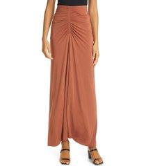 women's a.l.c. aureta maxi skirt, size small - orange
