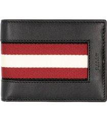 bally biman logo detail leather card holder