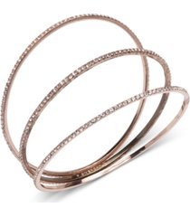 givenchy 3-pc. pave bangle bracelets set