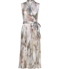 3391 - whitney dress maxi maxiklänning festklänning multi/mönstrad sand