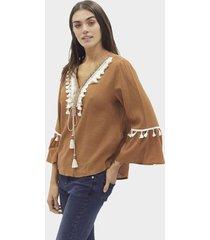 blusa camel eco sistema