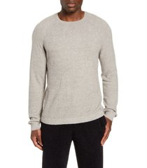 men's barefoot dreams cozychic(tm) lite raglan sweater, size large - grey