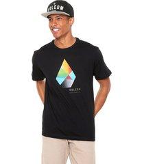 camiseta volcom biselt stone preta